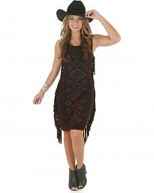 Wrangler Rock 47 Women's Sleeveless Studded Fringe Dress