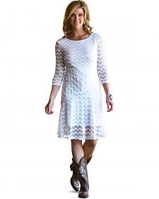 Wrangler Women's Vanilla Crochet Dress