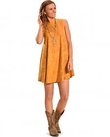 Cowgirl Justice Women's Sunset Gold Faux Suede Dress