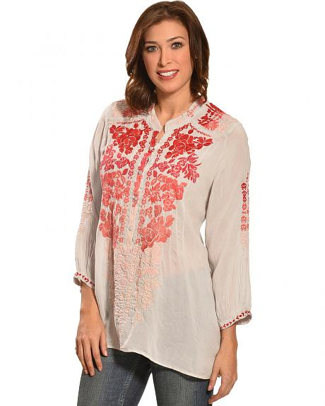 Johnny Was Women's Blooming Ombre Blouse