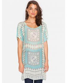 Johnny Was Arroyo Long Print Tunic