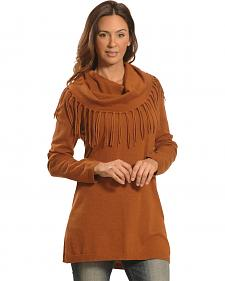 Tasha Polizzi Women's Camel Thoroughbred Fringe Tunic