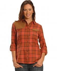 Tasha Polizzi Women's Red Clay Plaid Shooting Shirt
