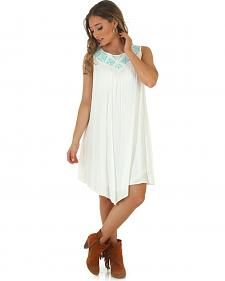 Wrangler Rock 47 Women's Aztec Embroidery White Dress