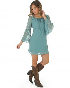 Wrangler Rock 47 Women's Lace Bell Sleeve Dress