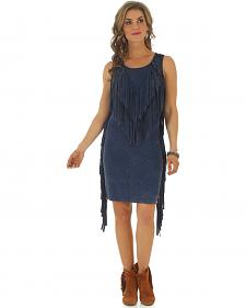 Wrangler Women's Fringe Navy Dress