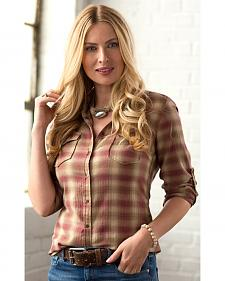 Ryan Michael Women's Heather Plaid Shirt