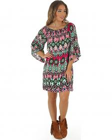 Wrangler Rock 47 Women's Off the Shoulder Print Dress