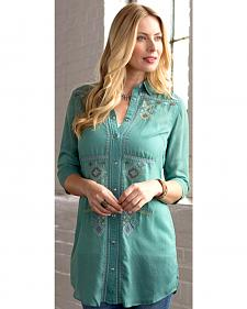Ryan Michael Women's Embroidered Tunic