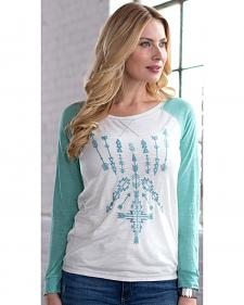 Ryan Michael Women's Embroidered Baseball Tee