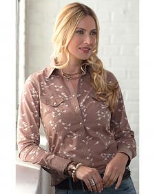 Ryan Michael Women's Bird Print Shirt