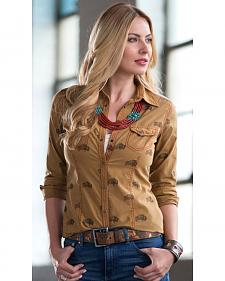 Ryan Michael Women's Roaming Buffalo Shirt