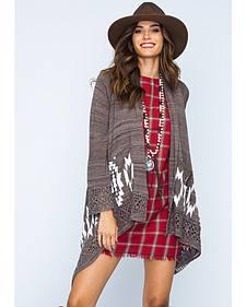 Ryan Michael Women's Sweater Cape