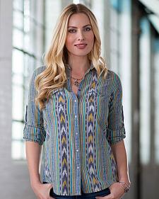 Ryan Michael Women's Ikat Stripe Shirt