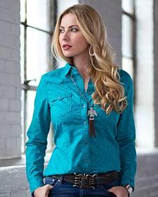 Ryan Michael Women's Arrows Print Shirt