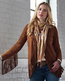 Ryan Michael Women's Fringe Leather Jacket