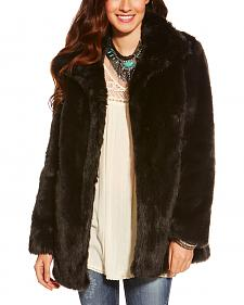 Ariat Women's Black Lux Fur Jacket