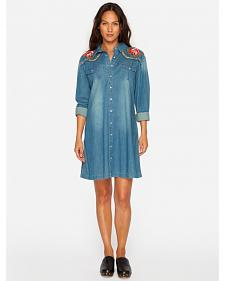 3J Workshop Denim Margo Western Tunic