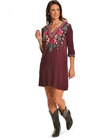 3J Workshop Women's Merlot Janine Short Kaftan