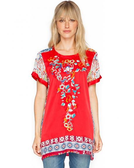 Johnny Was Women's Yokito Embroidered Top