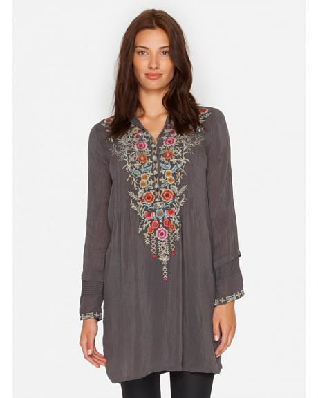 Johnny Was Women's Grey Arianna Tunic