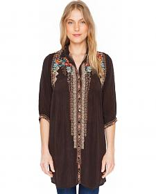 Johnny Was Women's Dark Cocoa Clarissa Shirt Dress