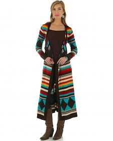Wrangler Women's Long Bright Aztec Cardigan