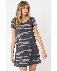 Z Supply Women's Black Connor Camo Dress