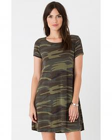 Z Supply Women's Green Connor Camo Dress
