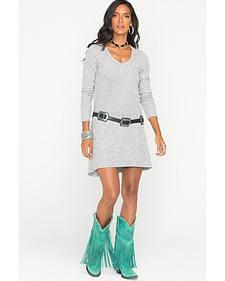 Z Supply Women's Grey Marled Sweater Dress
