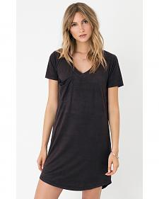 Z Supply Women's Black The Suede Dress