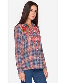 Johnny Was Women's Multi Asilah Button Back Shirt