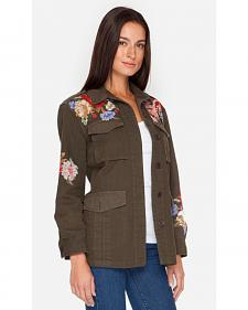 Johnny Was Women's Olive Cecily Military Coat