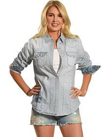 Tasha Polizzi Women's Blue Austin Shirt