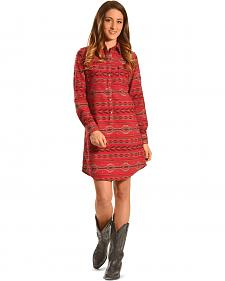 Ryan Michael Women's Beacon Blanket Shirt Dress