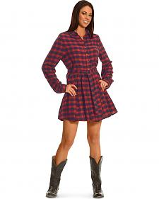 Shyanne Women's Flannel Shirt Dress