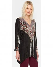 Johnny Was JWLA Landon Velvet Pull-On Tunic