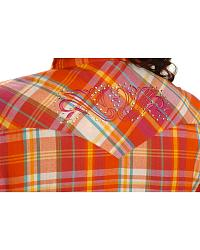 Exclusive Gibson Trading Co. Orange Plaid Western Shirt - Plus at Sheplers