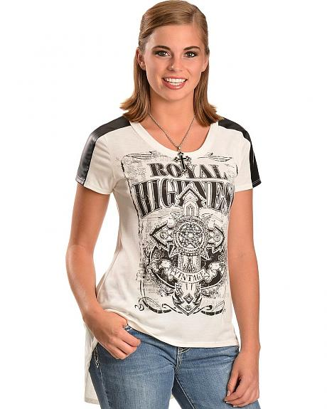 Cowgirls & Diamonds Royal Highness Baseball Style Top - Plus