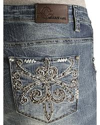 Tan Thick Fleur Plus Jean at Sheplers