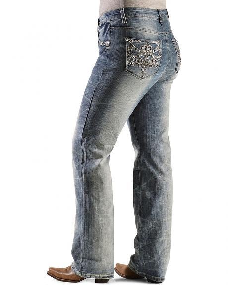 Grace in L.A. Bling Fleur-De-Lis Jeans - Plus