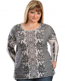 Lawman Lace Printed Top - Plus