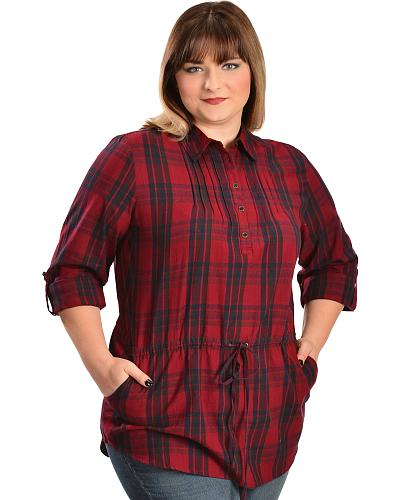 Red Ranch Womens Red Plaid Tunic Plus Western & Country 301882X