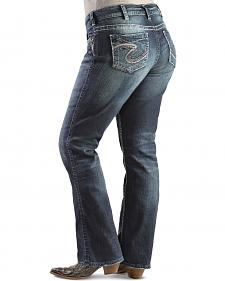 Silver Suki Mid-Rise Slim Fit Bootcut Jeans - Plus