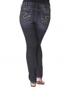 Silver Aiko Defined Curve Mid Rise Slim Bootcut Jeans - Plus