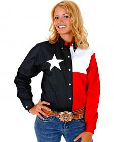 Roper Women's Long Sleeve Texas Flag Shirt - Plus