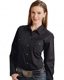Roper Women's Amarillo Solid Pearl Snap Western Shirt - Plus