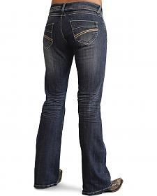 Stetson Women's 816 Classic Fit Thick Stitch Bootcut Jeans - Plus