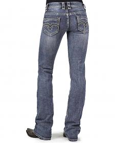 Stetson Women's 818 Contemporary Contrast Stitch Bootcut Jeans - Plus