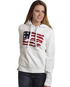 Roper Women's American Flag Hoodie - Plus
